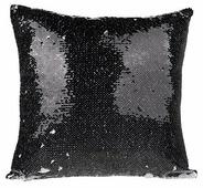 Наволочка с пайетками под сублимацию, квадратная 40x40 см, Черный/Белый
