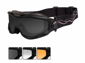 Тактическая маска WX SPEAR SP293B. Черная оправа, 3 вида линз.