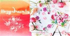 """Конверт для денег Поздравляем """"Цветы и кисти"""" (Miland)"""