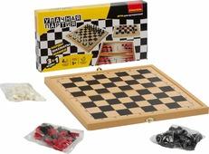Настольная игра Bondibon Удачная партия 3 в 1, шахматы, шашки, нарды, ВВ3490