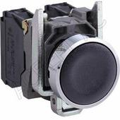 Лампы, кнопки, звонки, переключатели Черная кнопка с потайным толкателем 1но Schneider Electric