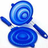 """Дуршлаг """"Mayer & Boch"""", силикон, силиконовая ручка, 20 см, синий"""