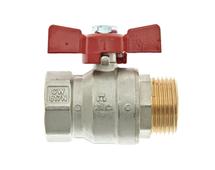 """Thermotech Шаровой клапан 1"""", плоское соединение (арт. 53211) для теплого пола"""