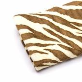 Ткань плюш зебра, цвет коричневый