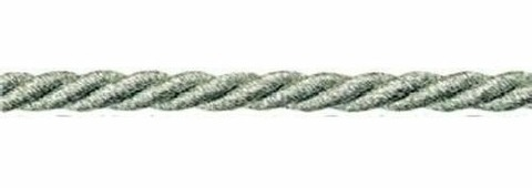 Шнур витой, 5 мм, 50 м, люрекс (цвет: 06, серебро), арт. 23-105