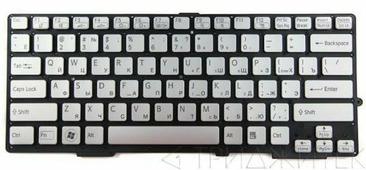Клавиатура для ноутбука Sony 149014351, MP-11J53SUJ886 (белая)