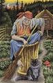 """Набор для вышивания крестом Panna """"Баба - Яга"""", 35 x 25 см"""