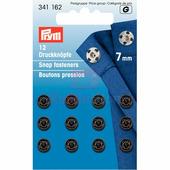 Кнопки пришивные латунь 7 мм 12 шт черный Prym 341162