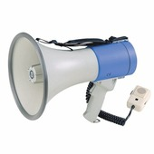 """SHOW ER66SD - Мегафон ручной 25 Вт,вын.микр.,сир, 12 В, 8 батарей тип""""С"""" вес 1,65 кг, пластик"""