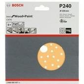 BOSCH 5 шлифлистов Best for Wood+Paint Multihole Ø150 K240 2.608.608.X87