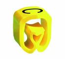 """Маркер закрытого профиля Partex PA-2 на провод 2.5-16.0 мм², символ """"C"""", желтый/черный (пачка 100 шт.) {PA-200..."""