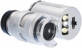 Карманный микроскоп с 60-кратным увеличением, с подсветкой C450901
