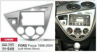 Переходная рамка для установки магнитолы CARAV 11-549 - FORD Focus 1998-2004 (Silver) - 2DIN