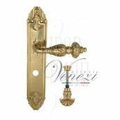 Дверная ручка на планке Venezia Lucrecia PL90 полированная латунь wc-4