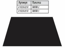 Дно под тамбур палатки Alexika «Nakra 2», black