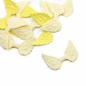 Патч Крылышки 50*33 мм, цвет светло-желтый
