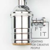 Патрон для ретро лампы E27, хром, LD4002-7 LOFT IT