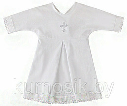 """Крестильная рубашка (100% хлопок) 0135 """"Наша мама"""" 80"""