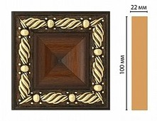 Вставка Декомастер Каштан D207-51 (100х100х22мм)