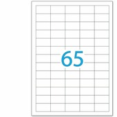 Этикетка самоклеящаяся BRAUBERG на листе формата А4, 65 этикеток, 38х21,2 мм, белая, 50 л.