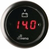 Вольтметр цифровой с красным ЖК-экраном Wema IEVR-BB-8-32 8 - 32 В 52 мм