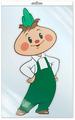 Сфера ТЦ издательство Ф2-12612-П плакат вырубной В пакете: Чиполлино (из м/ф) в инд. упаковке