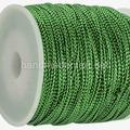 Шнур Декоративный, 1 мм, Металлизированный, Зеленый, 1 м
