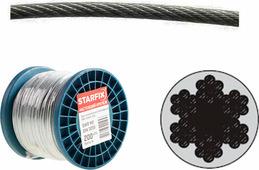 Starfix Трос стальной, оцинк. М10 DIN 3055 (бухта 100 м) (SMP-53680-100)