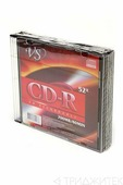 Записываемый компакт-диск VS CD-R 80мин, 52x SL/5, 1 штука