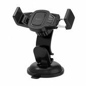 Крепление для сотового телефона в автомобиль Hoco СА40, черный, универсальный с присоской