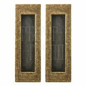 Ручка для раздвижных дверей Armadillo SH010 URB античная бронза