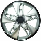 "Колпаки на колеса LION ""супер астра"", R14, вид карбон, комплект 2 шт"