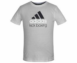 Футболка детская Community T-Shirt Kickboxing Kids серо-черная (рост 164 см)