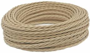 Ретро кабель витой электрический (50м) 2*0.75, капучино, ПРВ2075-КПЧ Panorama