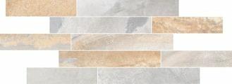 Плитка из керамогранита VitrA Мозаика Vulcano Резаный бордюр Натуральный Серый 7РЕК (K946659R)