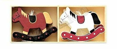 """Набор деревянных подвесок """"Лошадка"""", 10 шт, 8х6 см (Miland)"""