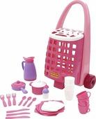 Забавная тележка + набор детской посуды (31 элемент) Арт. 44389