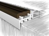 Профиль для ступеней 51852А, анодированный серебро 250 см