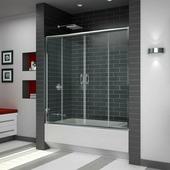 Стеклянная шторка для ванны RGW SC-61 180 см (прозрачное/хром)
