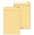 Крафт конверт B4 (250*353мм), стрип-лента, клапан прямой, боковое расширение (LargePack). Конверты - в упаковке 200 шт.