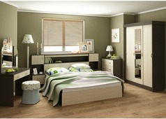 Спальня Бася (венге, беленый дуб)