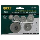 Круги отрезные FIT с алмазным напылением, 12 шт