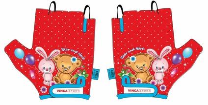 Велоперчатки детские Vinca sport VG 954 Вear and Hare