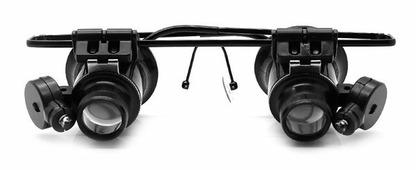 Лупа-очки Kromatech налобная бинокулярная 20x, с подсветкой (2 LED) MG9892A-II Kromatech (Кроматек)