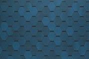 Гибкая битумная черепица Tegola Nordland Нордик синий с отливом