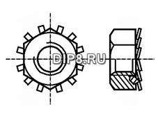 B4/BN1364, Гайка с зубчатой шайбой M4мм BN1364, п
