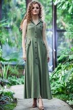 Платье Euromoda 100 хаки new