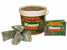 """Камни для банных печей """"Жадеит"""" колотый 20 кг"""
