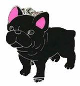 АТ Подвеска породы Французский бульдог (черный)