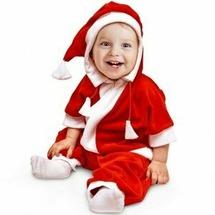 """Страна Карнавалия Комбинезон для самых маленьких """"Дед Мороз"""", велюр, рост 68-92 см"""